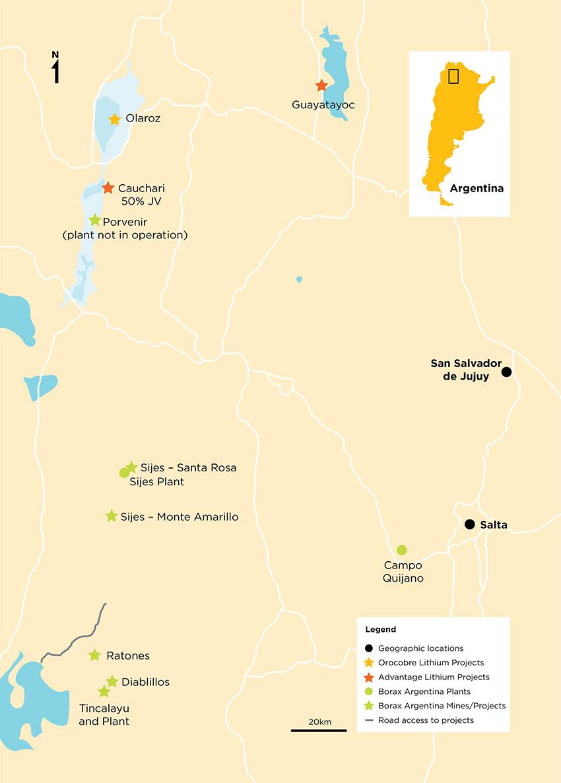 Orocobre Project Map Orocobre Orocobre