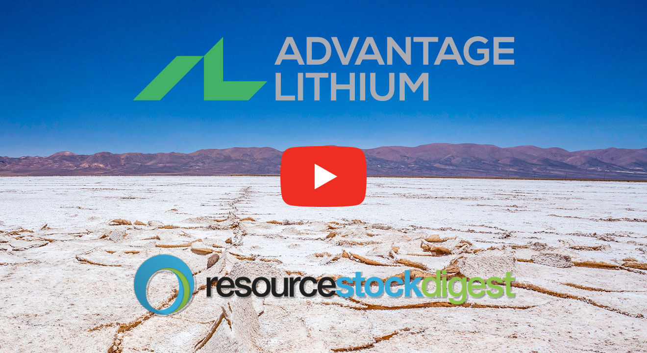 YouTube Video Thumbnail Advantage Lithium CEO David Sidoo speaking with Resource Stock Digest