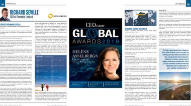 "Richard Seville featured in CEO Today Magazine's ""2019 CEO Global Awards Winners' Edition"""
