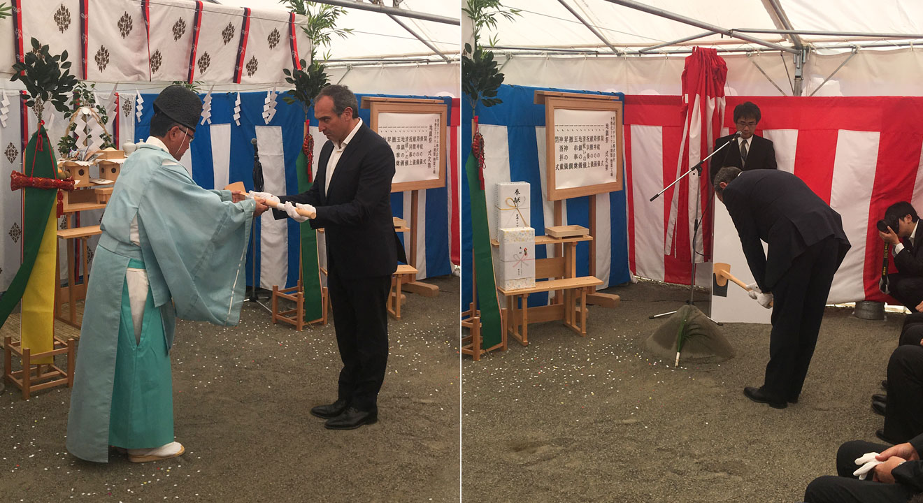 Orocobre CEO Martín Pérez de Solay participating in Naraha Lithium Hydroxide Plant Groundbreaking Ceremony in Japan