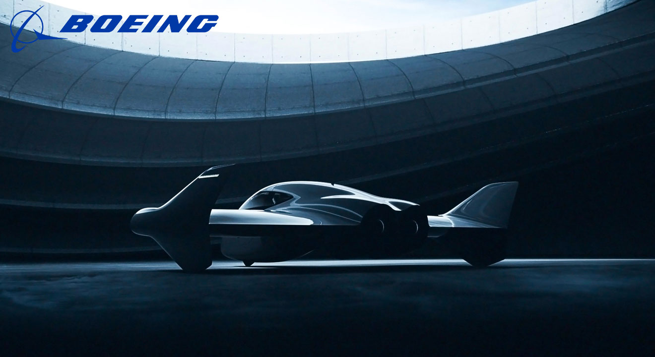 Artists impression of an electric flying vehicle under development by Porsche and Boeing
