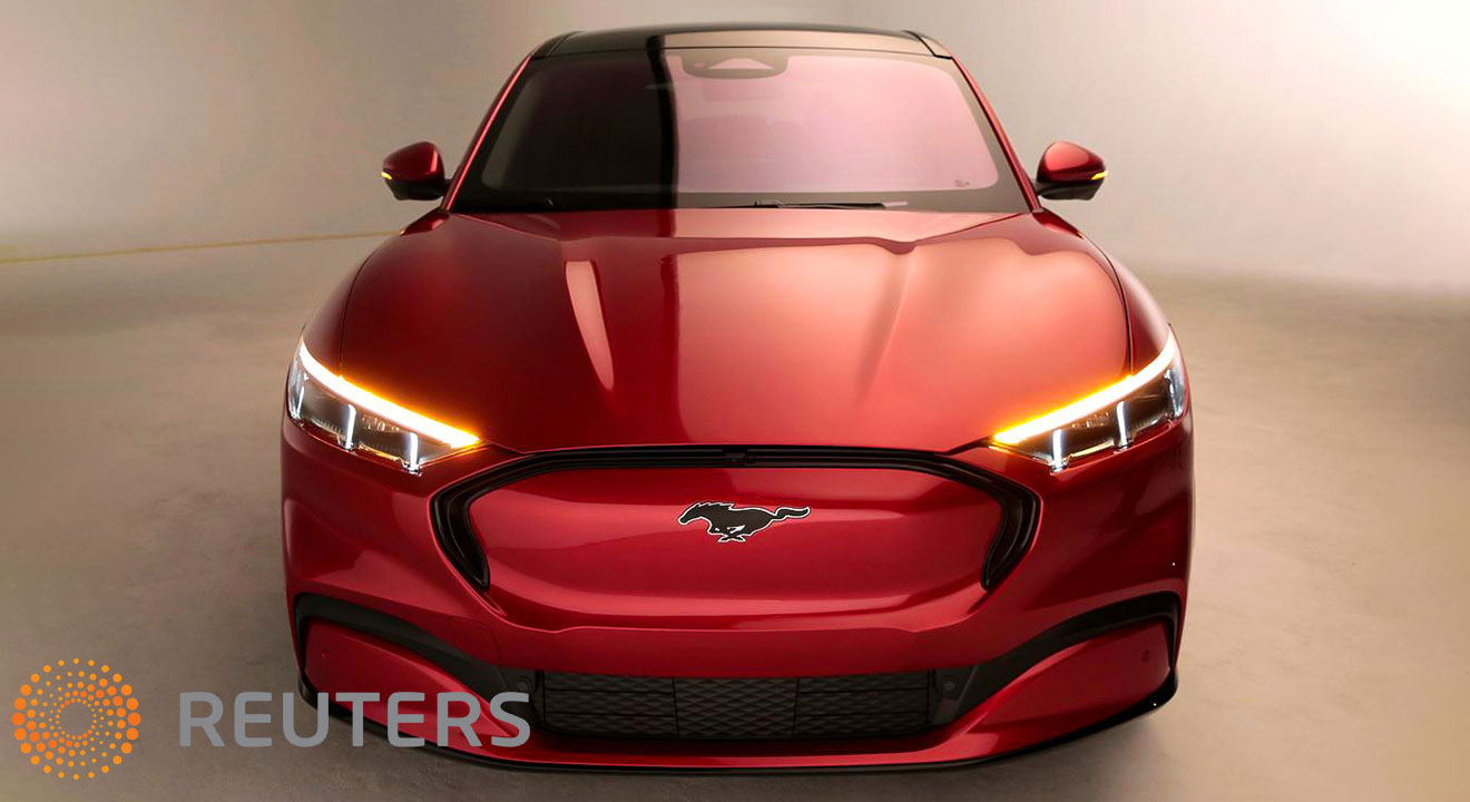 The Ford Mustang Mach-E EV SUV