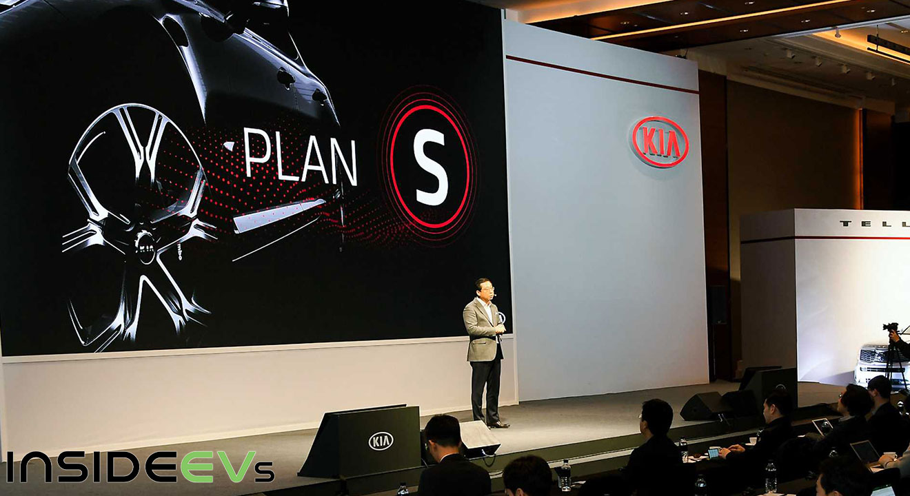 han woo park kia motors president and ceo presenting at Plan S launch